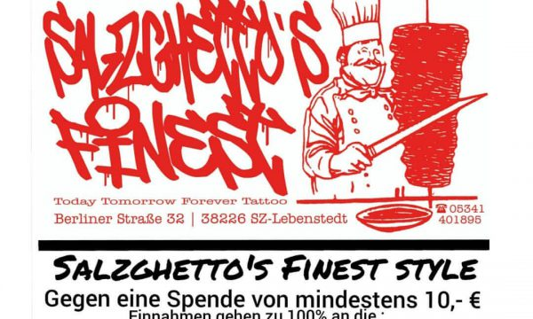 Tattoo Studio Today Tomorrow Forever - Charity-Shirt Salzghetto´s finest.