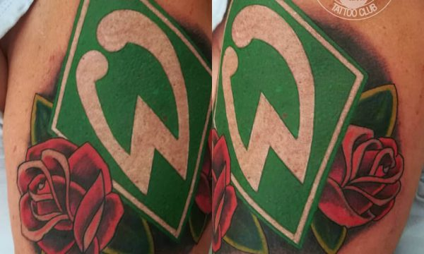 Tattoo Studio Today Tomorrow Forever - Cover up - Logo Werder Bremen.
