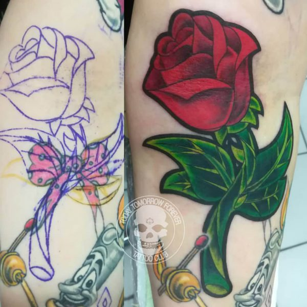 Tattoo Studio Today Tomorrow Forever - Cover up - Rose.
