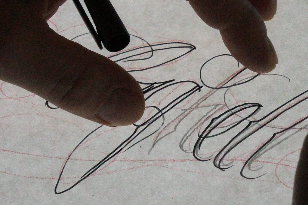 Tattoo Studio Today Tomorrow Forever - Schriftzug.