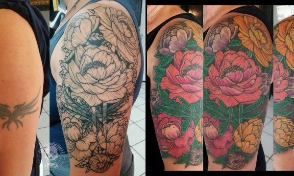 Tattoo Studio Today Tomorrow Forever - Cover up - Blumen.