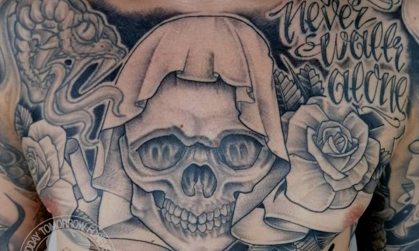 Tattoo Studio Today Tomorrow Forever - Tattoo - Totenkopf, Skull - You´ll never walk alone.